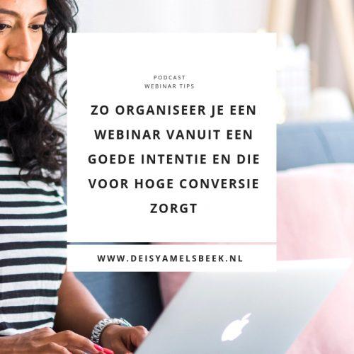 webinar organiseren tips